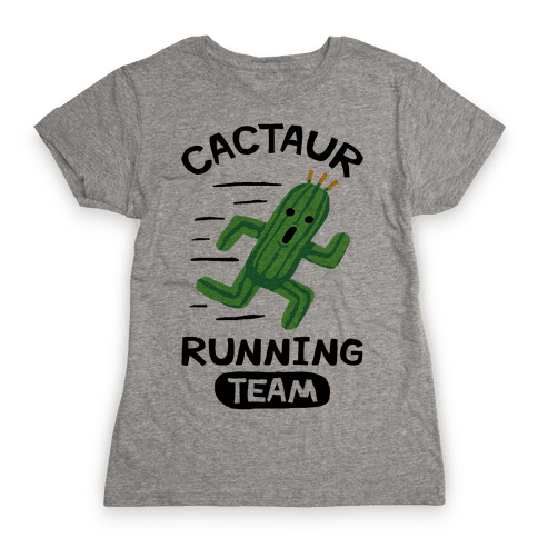 Cactaur Running Team Womens T-Shirt