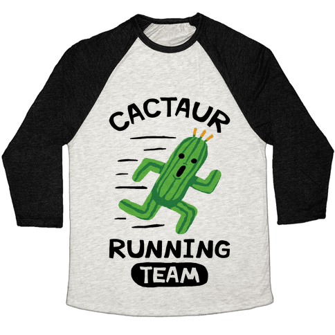 Cactaur Running Team Baseball Tee