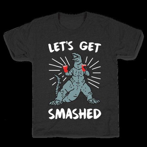 Let's Get Smashed Party Kaiju Kids T-Shirt