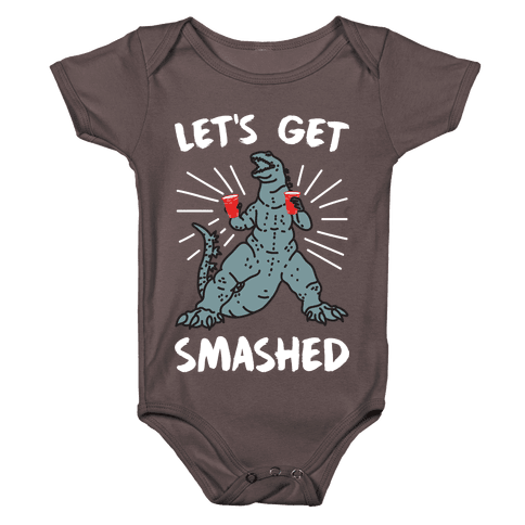 Let's Get Smashed Party Kaiju Baby One-Piece