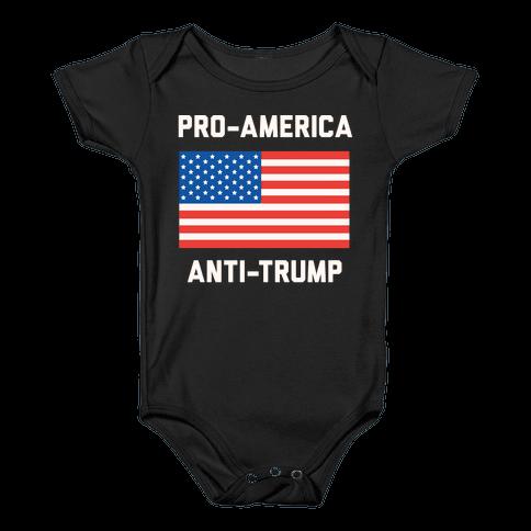 Pro-America Anti-Trump Baby Onesy
