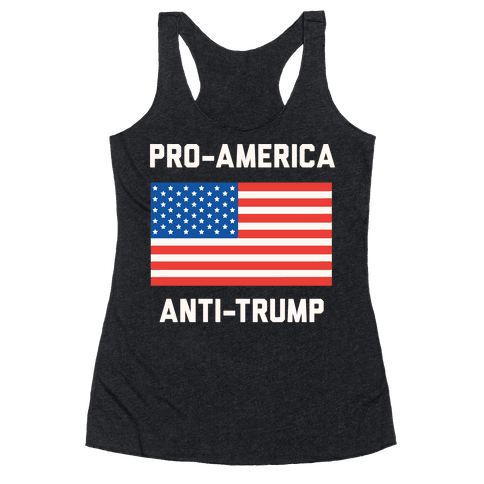 Pro-America Anti-Trump Racerback Tank Top