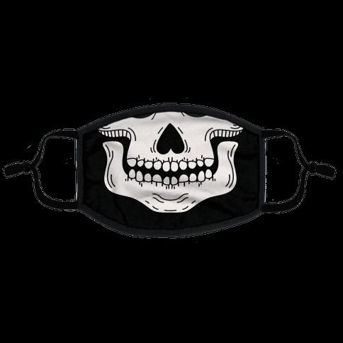 Skeleton Mouth Flat Face Mask