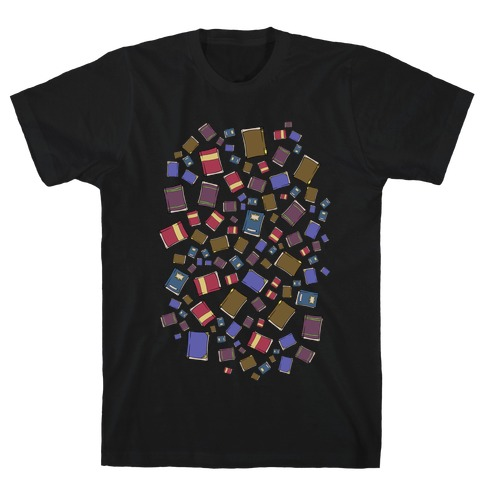 Book Collection Pattern T-Shirt