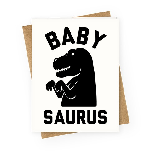 Baby Saurus Boy Greeting Card
