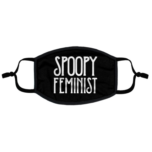 Spoopy Feminist Flat Face Mask