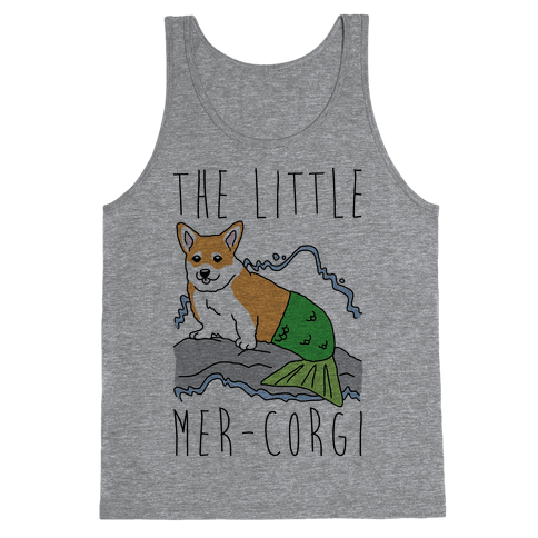 The Little Mer-Corgi Parody Tank Top