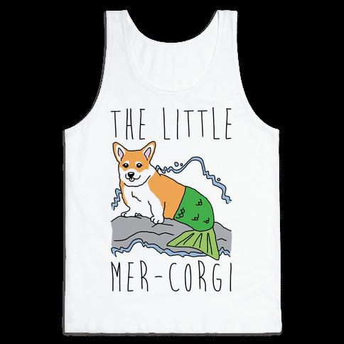 The Little Mer-Corgi Parody Tank Top