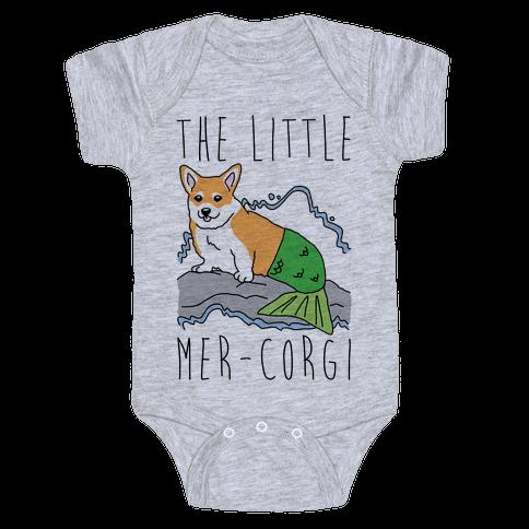 The Little Mer-Corgi Parody Baby Onesy