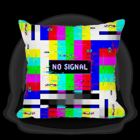 Glitchy No Signal Bars Pillow