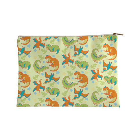 Funky Dinosaur Friends Pattern Accessory Bag