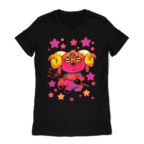 Kawaii Demon Goat Womens T-Shirt