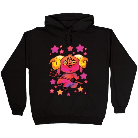 Kawaii Demon Goat Hooded Sweatshirt