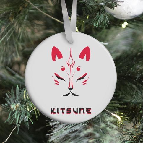 Kitsune Face Ornament
