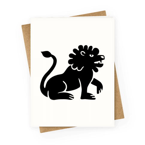 Zodiacs Of The Hidden Temple - Leo Lion Greeting Card