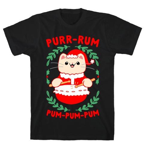 Purr-rum-pum-pum-pum Mens/Unisex T-Shirt