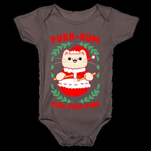 Purr-rum-pum-pum-pum Baby One-Piece