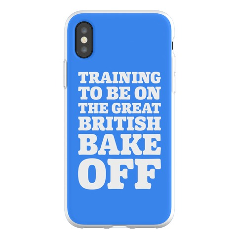 Training To Be On The Great British Bake Off Phone Flexi-Case