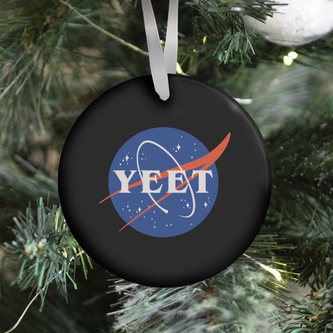 Yeet Nasa Logo Parody Ornament
