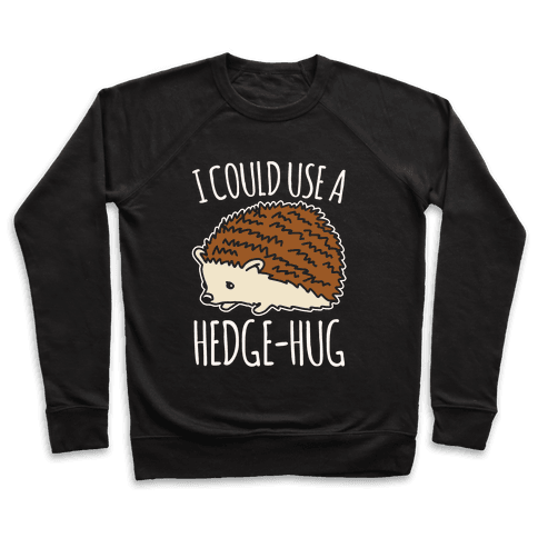 I Could Use A Hedge-Hug White Print Pullover