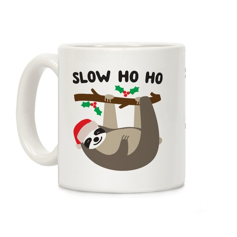 Slow Ho Ho Santa Sloth Coffee Mug