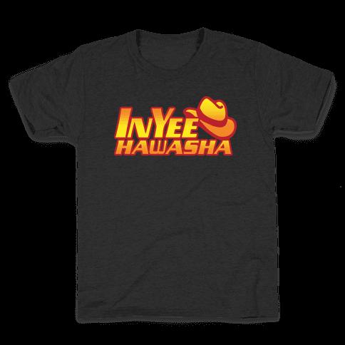 InYeeHawsha Parody White Print Kids T-Shirt