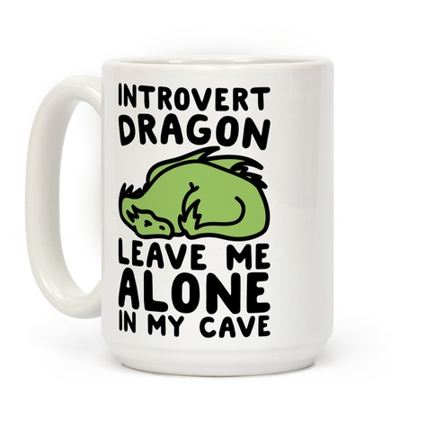 Introvert Dragon Coffee Mug