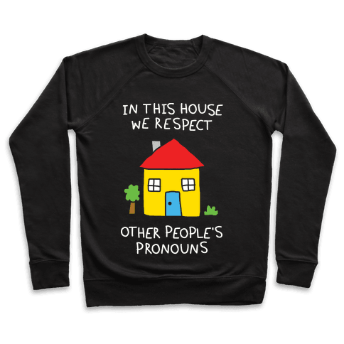 In This House We Respect Other People's Pronouns Pullover