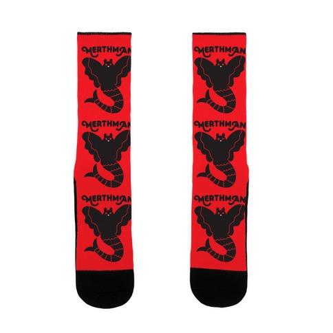 Merthman (Mermaid Mothman) Sock