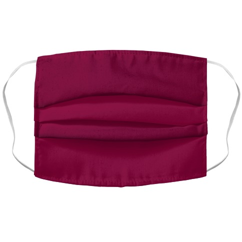 Burgundy Accordion Face Mask