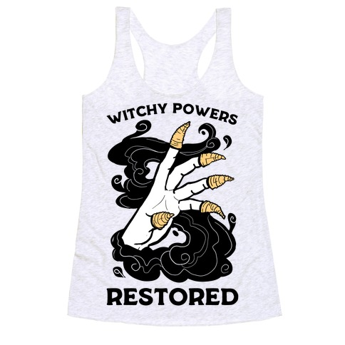 Witchy Powers Restored Racerback Tank Top