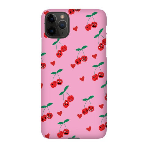 Cherry Love Pattern Phone Case