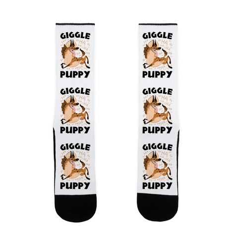 Giggle Puppy Sock