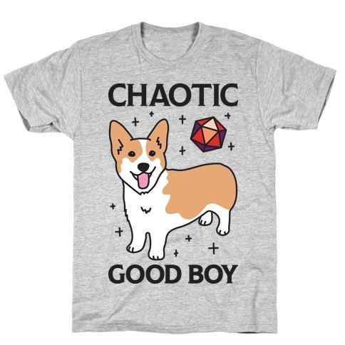 Chaotic Good Boy Corgi T-Shirt