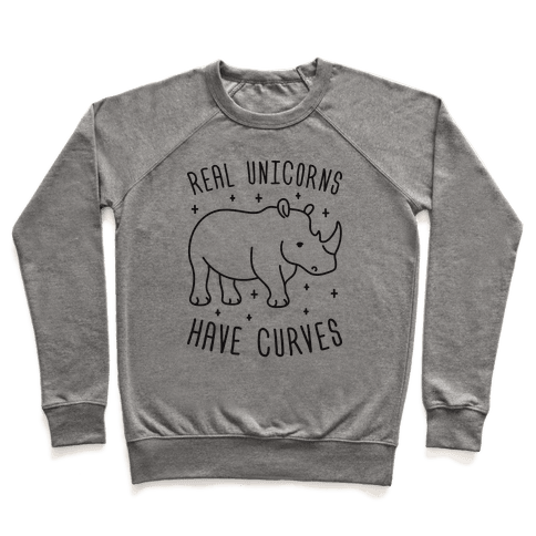 Real Unicorns Have Curves (Rhino) Pullover