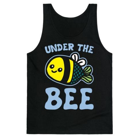 Under The Bee Parody White Print Tank Top