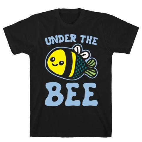 Under The Bee Parody White Print T-Shirt