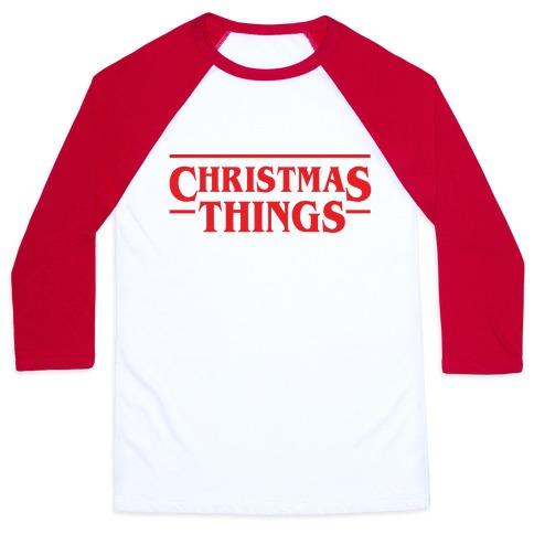 Christmas Things Baseball Tee