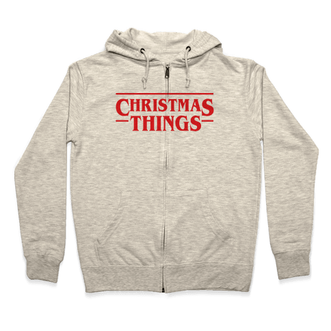 Christmas Things Zip Hoodie