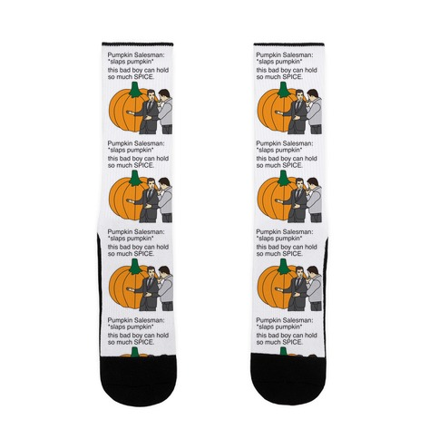 Pumpkin Salesman Sock
