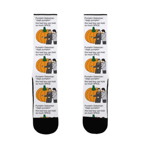 Pumpkin Salesman Sock
