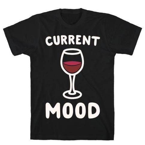 Current Mood Wine White Print T-Shirt