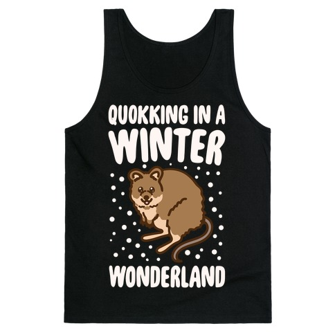 Quokking In A Winter Wonderland White Print Tank Top