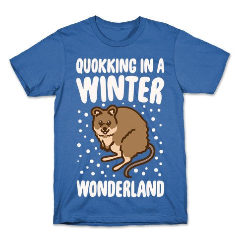 Quokking In A Winter Wonderland White Print T-Shirt