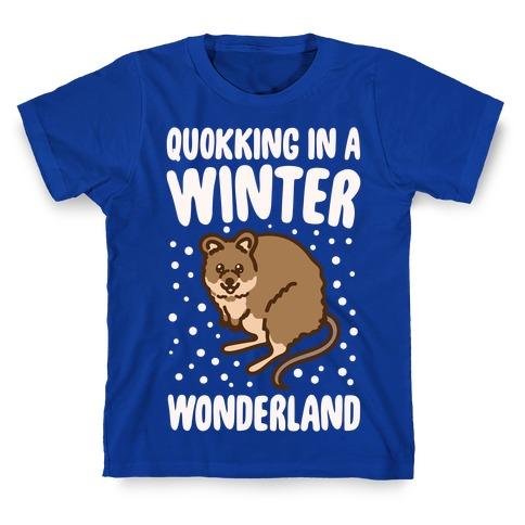 Quokking In A Winter Wonderland White Print T-Shirt