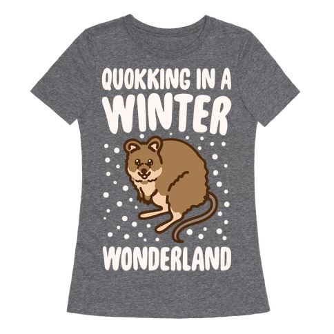 Quokking In A Winter Wonderland White Print Womens T-Shirt