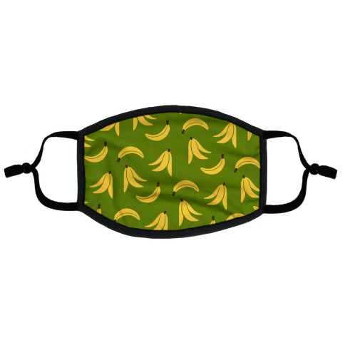 Simple Banana Pattern Flat Face Mask
