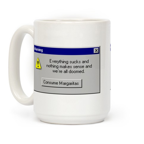 Windows 95 Consume Margaritas Coffee Mug