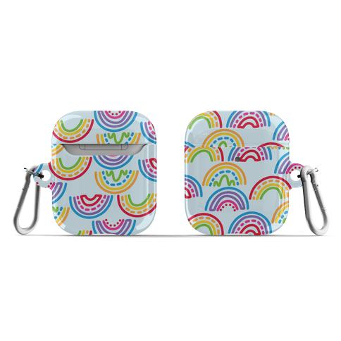 Rainbow Doodle Pattern AirPod Case