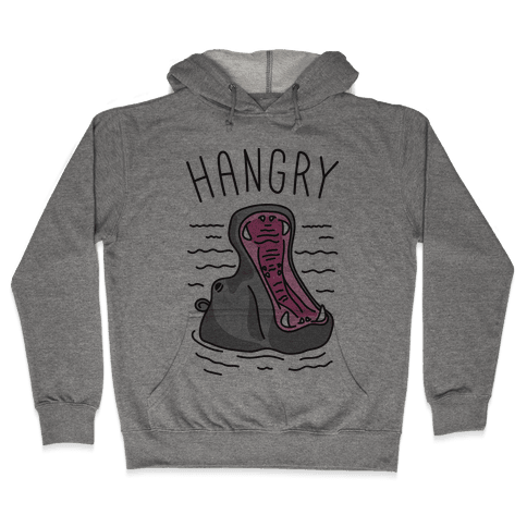 Hangry Hippo Hooded Sweatshirt